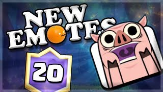 NEW PIGLET EMOTES | BEST 20 Win Deck Modern Royale | Clash Royale 🍊
