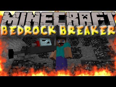 Minecraft Mods: BEDROCK BREAKER GUN! BLAST AWAY BEDROCK!