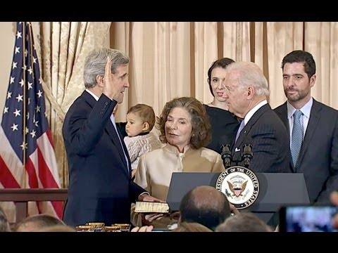 Vice President Biden Swears In Secretary of State John Kerry