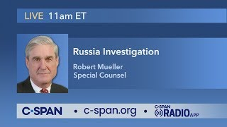 LIVE: Statement from Special Counsel Robert Mueller (C-SPAN)