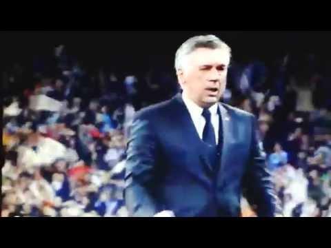 Tata vs ancelotti. zidane disgusto con el cambio de benzema.