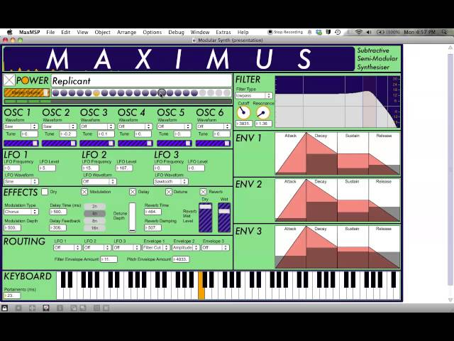 MaxMSP Synthesizer