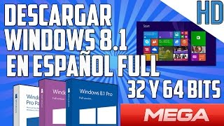 Como Descargar WINDOWS 8.1 PRO final español 32 & 64 bits gratis | 1 link