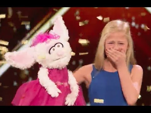 12 Y.O Ventriloquist Singer Gets MEL B GOLDEN BUZZER | Week 1 | America's Got Talent 2017