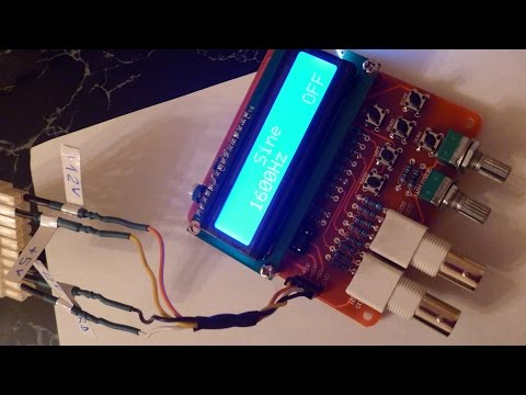 DDS Function Signal Generator DIY Kit: Power Supply & Features Test