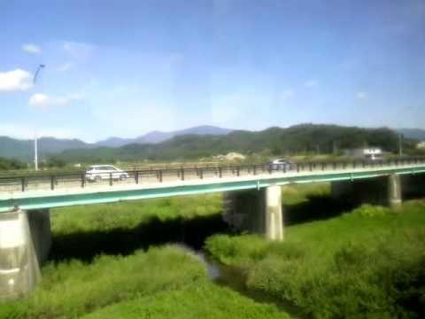 陸羽東線キハ110系新庄→鳴子温泉左側車窓