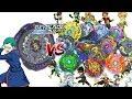 BURSTING TANK! TWIN NOCTEMIS 2 JAGGY VS ALL SWITCHSTRIKE BEYBLADES -  BEYBLADE BURST EVOLUTION