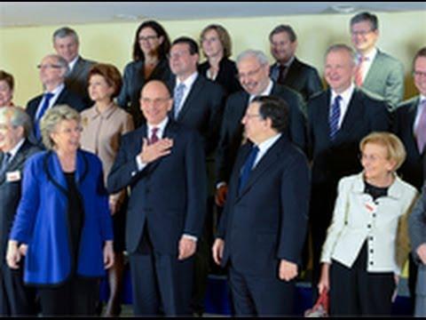 Verso il semestre UE, conferenza stampa Letta-Barroso