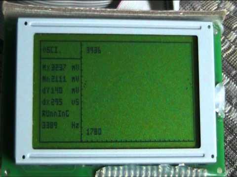 pic18 Oscilloscope - sound wave