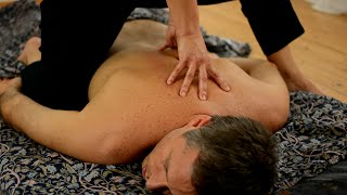 Ayurvedic Yoga Massage, ASMR, Full Body Part 1: Back, Neck, Arms