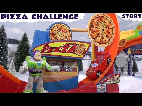Play Doh Cars 2 Peppa Pig Toy Story Imaginext Hot Wheels Frozen Pizza Challenge Buzz Angry Birds video