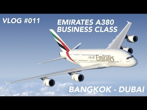 Emirates A380 Business Class Bangkok to Dubai -  Red Eye Flight to the Middle East