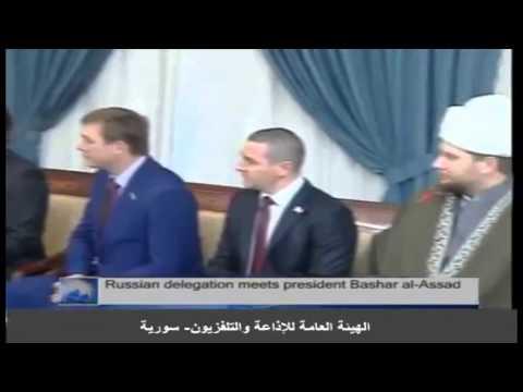 Russian delegation meets President Bashar al-Assad 20-01-2014