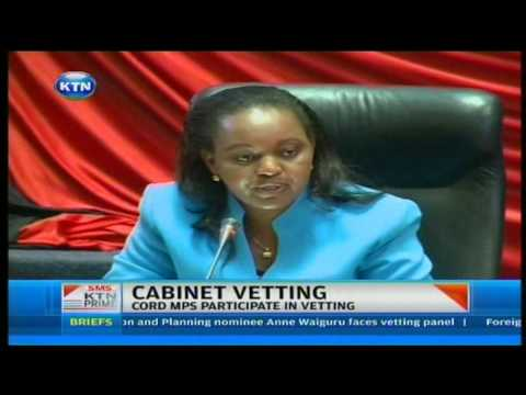 Vetting of cabinet nominees commences