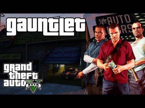 Grand Theft Auto 5 (GTA V) Gauntlet Mission (1-3) Find All 3 Muscle Car Locations (100% COMPLETION)