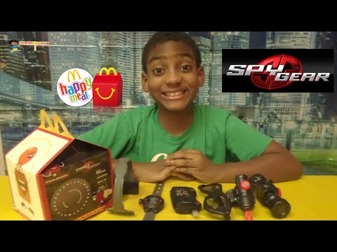 McDONALD'S SPY GEAR TOYS 2014 COMPLETE SET   HAPPY MEAL!!!