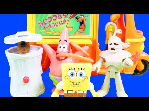 Imaginext SpongeBob SquarePants & Patrick Go On Adventure + Scooby-Doo Toy Review