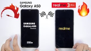 Realme 3 Pro vs Galaxy A50 Speedtest Comparison & RAM Management🔥🏁
