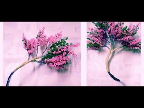 Уроки плетения деревьев бисером - видео