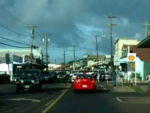 Driving through Paia Maui Hawaii