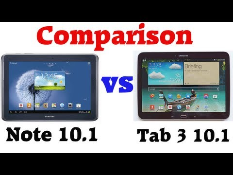Comparison: Samsung Galaxy Tab 3 10.1 vs Note 10.1   [English] [HD]