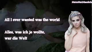 Marina & the Diamonds-Primadonna Girl (Lyrics+deutsche Übersetzung)