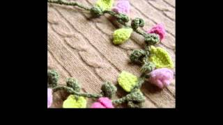crochet necklace scarf