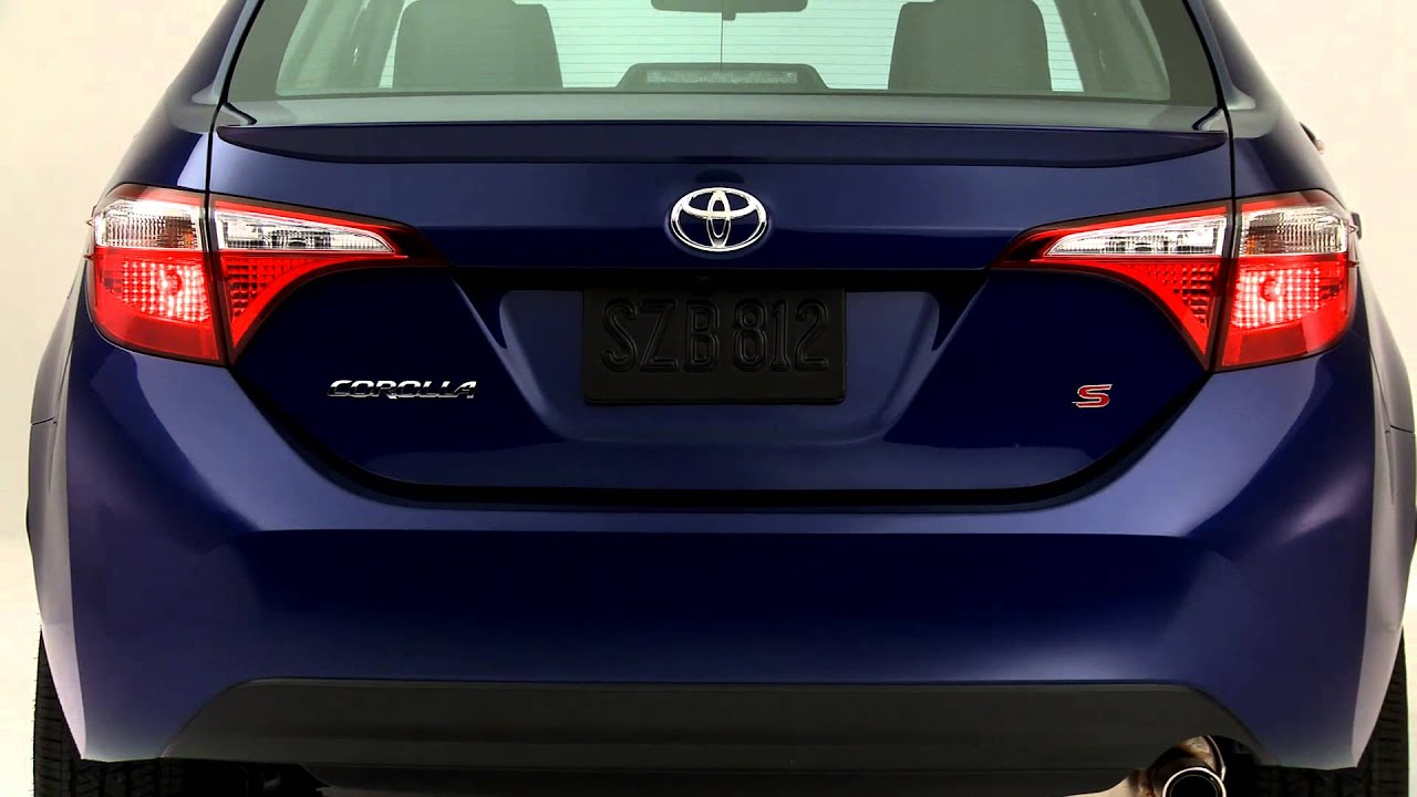 2014 Toyota Corolla S with Blue Crush paint - YouTube