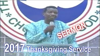 Pastor E.A Adeboye Sermon @ RCCG January 2017 THANKSGIVING SERVICE