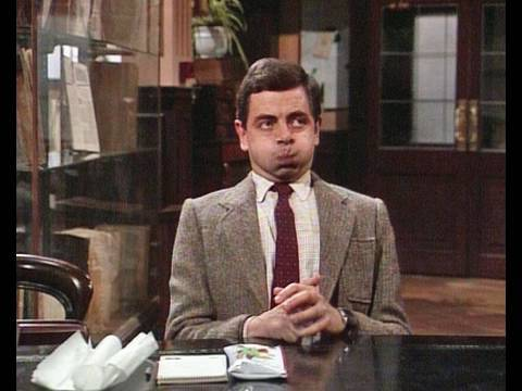 Mr Bean - Quiet in the library