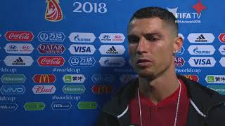 Cristiano RONALDO (Portugal) - Post Match Interview - MATCH 49