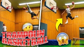 TRAMPOLIN BASKETBALL DUNK CHALLENGE!!