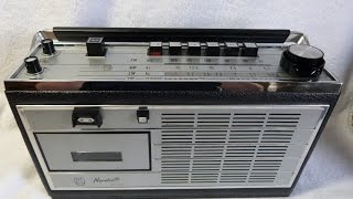 1968 Norelco (Philips) Radio Cassette player 22RL673/44R (Holland)