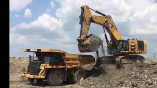 Caterpillar 6015b loading 777