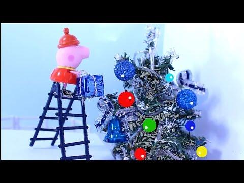 свинка пеппа Мультфильм для детей  Пеппа и Сюзи готовятся к Новому Году!
