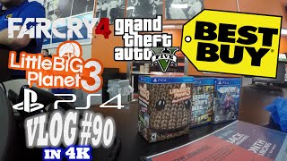 Far Cry 4, GTA 5 & LittleBigPlanet™3 PlayStation 4 Midnight Release at Best Buy in 4K! (Vlog #90)