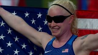 Kymberly Crosby Wins Gold in T13 100m | Parapan American Games Lima 2019
