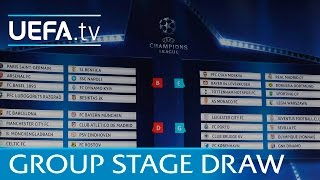 Full group stage draw: 2016/17 UEFA Champions League