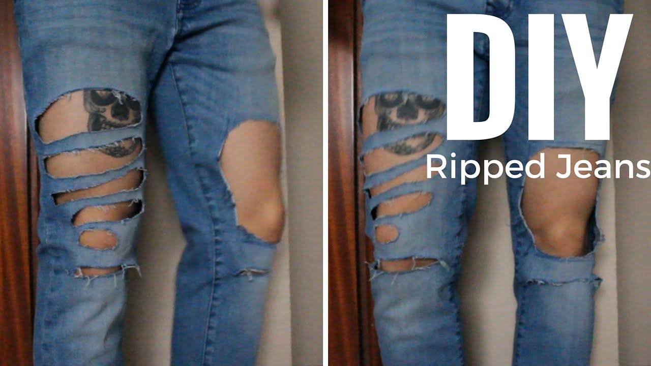 How to Make Ripped Jeans in 5 Steps  StyleCaster
