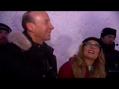 Frozen: Directors Jennifer Lee & Chris Buck Visit The Ice Hotel (Hotel De Glace)