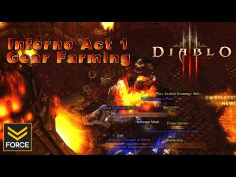 Diablo 3 - Act 1 Inferno Gear Farming: Warden & Butcher (Route Guide/Gameplay)