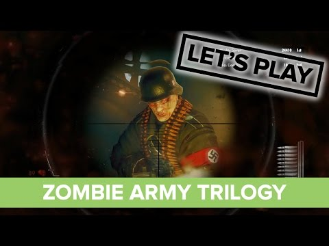 Let's Play Zombie Army Trilogy Co-op - All Aboard The Zombie Train video