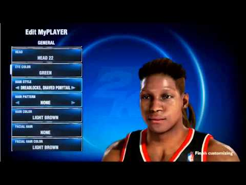 Playstation 4 - NBA 2K14 MyCAREER: New Hair styles and Hair style Patterns   PS4 Game play Footage