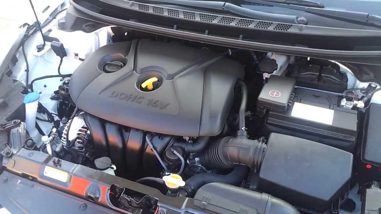 New Hyundai Elantra Sedan Engine Bay Review Youtube