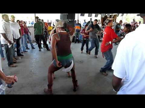 Zydeco dancing after Ville Platte trail ride 2 - August 2011