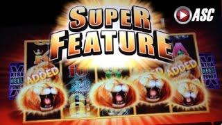 SUNSET KING | Aristocrat *Super Feature* Big Win! Slot Machine Bonus