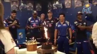 Sachin Tendulkar Birthday Celebration With Team | Mumbai Indians | At Wankhede Stadium | 44th | HD