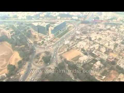 Aerials of Gurgaon and Delhi