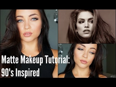 Matte Makeup Tutorial: 90's Inspired