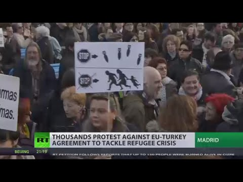 'Nobody is illegal' Thousands protest in Europe against EU-Turkey refugee deal